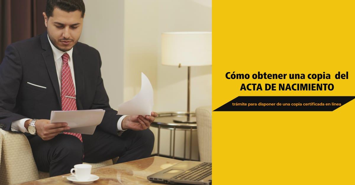 Certificado Acta Nacimiento México