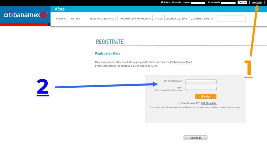 registro web afore banamex